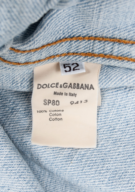 Dolce&Gabbana-sviesiai-melynas-dzinsinis-svarkas-su kisenėmis-bei-apykakle-L (6)