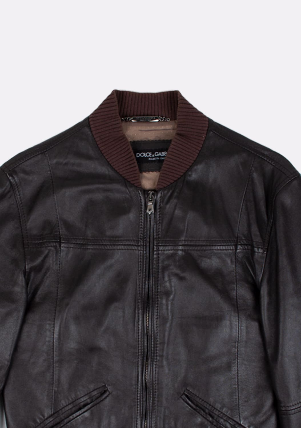 Dolce&Gabbana-Leather-Bomber-Men-Jacket-Size 46-ITA-urocklt (1)