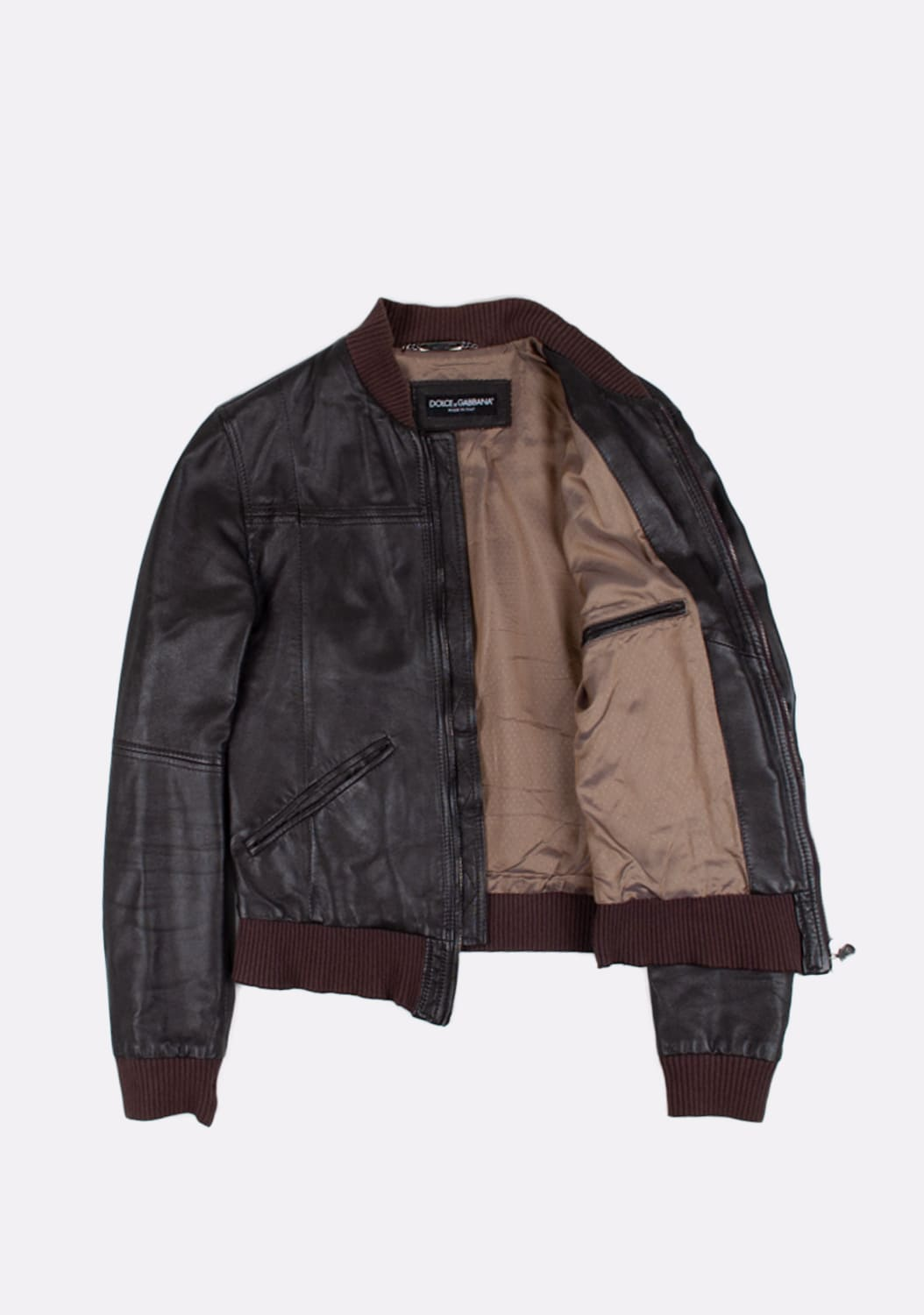 Dolce&Gabbana-Leather-Bomber-Men-Jacket-Size 46-ITA-urocklt (2)