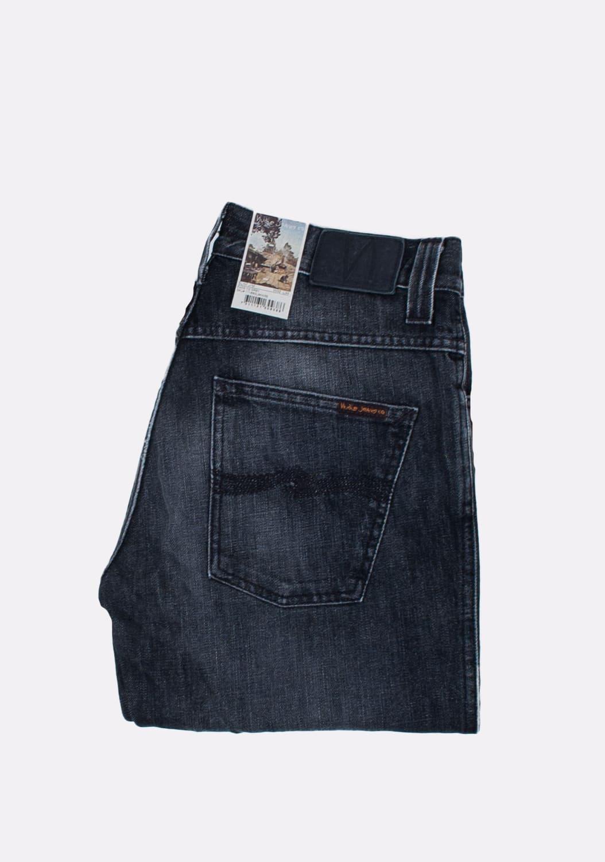 Nudie-Jeans-Slim-Jim-Org -melyni-dzinsai-dydis-32-34 (1)