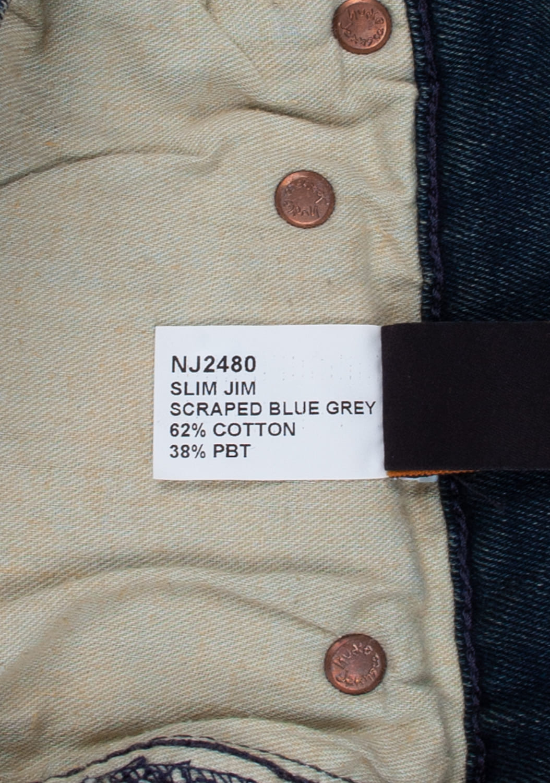 Nudie-Jeans-Slim-Jim-Scraped-melynai-pilki-Straight-dzinsai-dydis-32-34 (7)